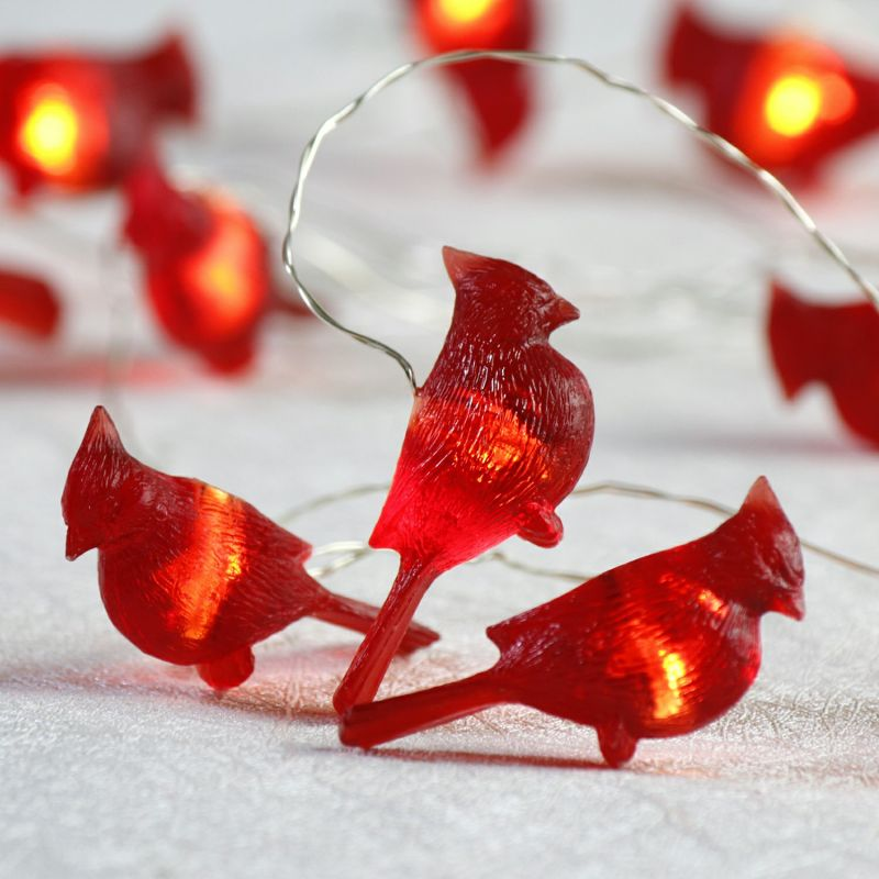 Lovely Christmas Lights, Red Cardinal Bird Decorative Lights Battery Operated 10  Ft 20 LEDs (Big Icon) With Remote Control For Indoor Outdoor, DIY Home New  Year ... Amazing Ideas